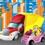 La Smart e il furgone
