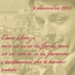 Caro Renzi, ti scrivo
