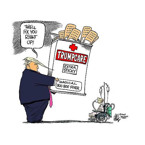 La legge di Trump: la malattia è una colpa