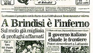 La prima pagina del Quotidiano di Brindisi