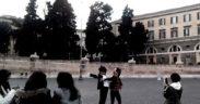 Foto, Giovanna Nuvoletti Piazza del Popolo Roma 2015