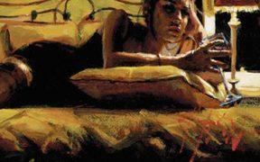Georgina in the yellow room, Fabian Perez